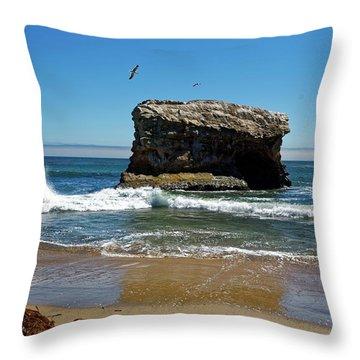 Natural Bridges State Park Throw Pillow