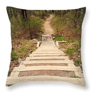 Nature Hike Throw Pillow