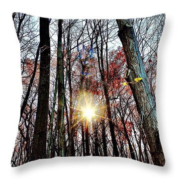 Nature Throw Pillow by MaryLee Parker