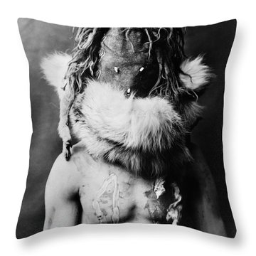 Navajo Mask, C1905 Throw Pillow by Granger