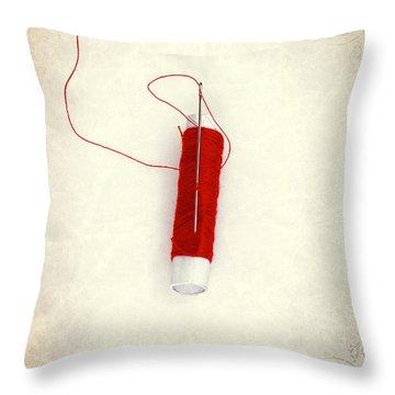 Needle And Thread Throw Pillow by Joana Kruse