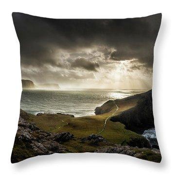 Neist Point Autumn Light, Isle Of Skye Throw Pillow