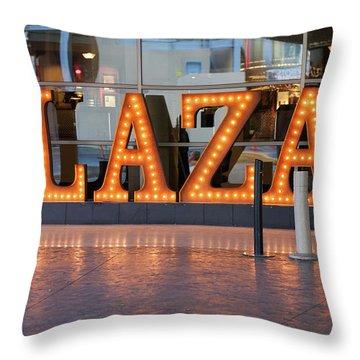 Neon Plaza Throw Pillow