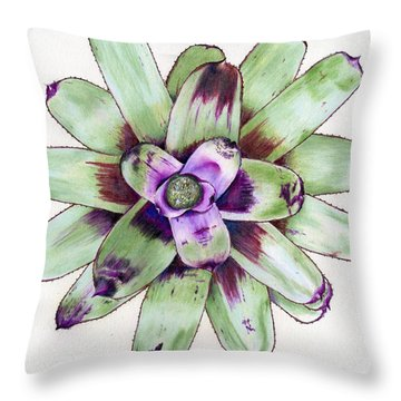 Neoregelia 'painted Delight' Throw Pillow