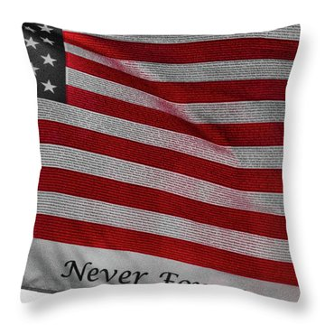 Never Forget Throw Pillow by Jim Lepard
