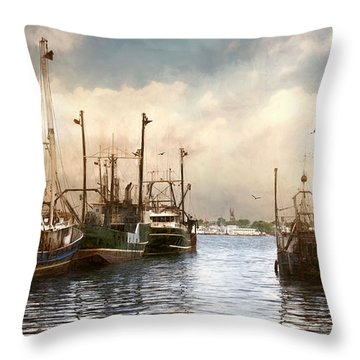 New Bedford Harbor Throw Pillow