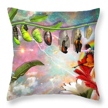 New Life Throw Pillow by Dolores Develde