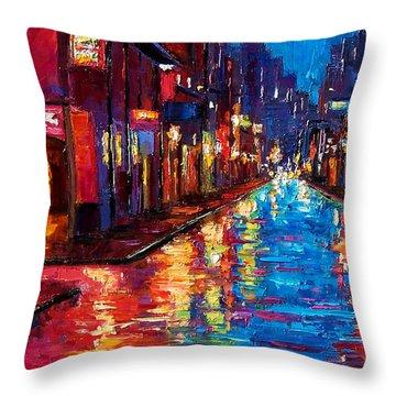 New Orleans Magic Throw Pillow by Debra Hurd