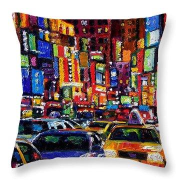 New York City Throw Pillow by Debra Hurd