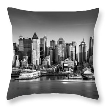 Throw Pillow featuring the photograph New York City Panorama by Mihai Andritoiu