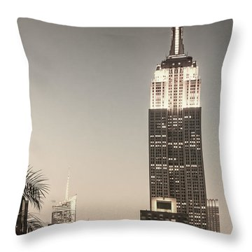 Throw Pillow featuring the photograph New York Empire State Building by Juergen Held