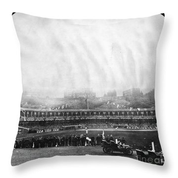 New York: Polo Grounds Throw Pillow by Granger