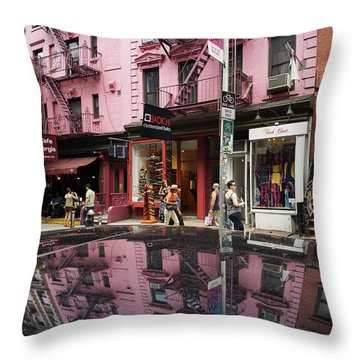 Throw Pillow featuring the photograph New York Soho  by Juergen Held
