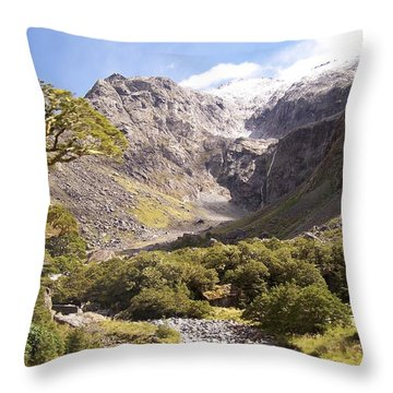 New Zealand Landscape Throw Pillow