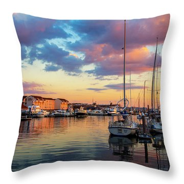 Newports Dusk Throw Pillow
