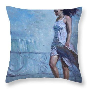 Niagara Falls Mist  Throw Pillow