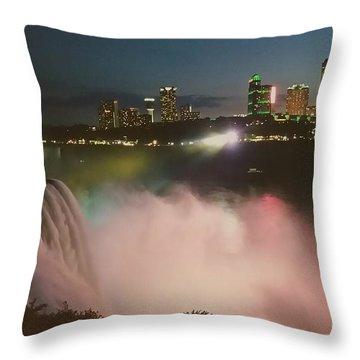 Throw Pillow featuring the photograph Niagara  by Raymond Earley