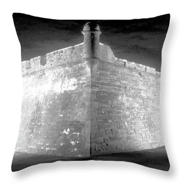 Night At The Castillo Throw Pillow by David Lee Thompson