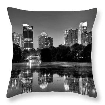 Night Atlanta.piedmont Park Lake. Throw Pillow