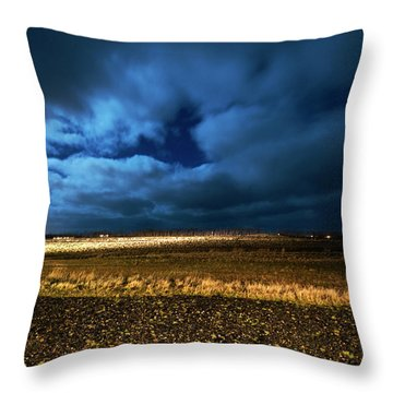 Throw Pillow featuring the photograph Icelandic Night  by Dubi Roman