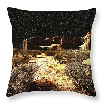 Night In The Arches Throw Pillow
