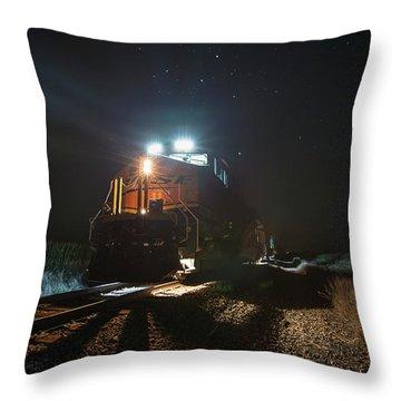 Night Train Throw Pillow by Aaron J Groen