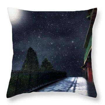 Nightwalk Throw Pillow by RC deWinter