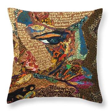 Nina Simone Fragmented- Mississippi Goddamn Throw Pillow