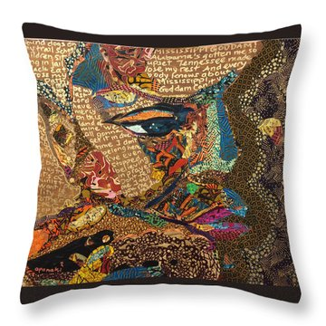 Nina Simone Fragmented- Mississippi Goddamn Throw Pillow