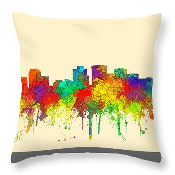 Norfolk Virginia Skyline Throw Pillow