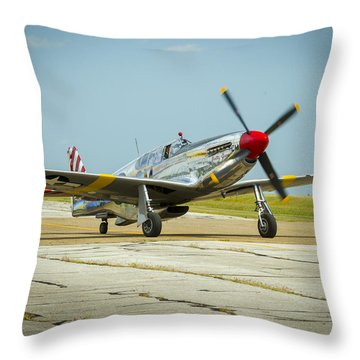 North American Tp-51c Mustang Throw Pillow