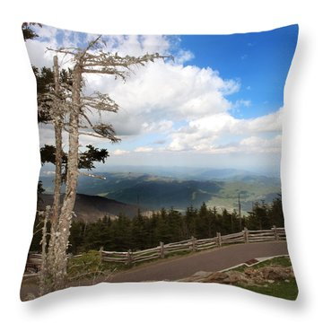 North Carolina High Country Throw Pillow