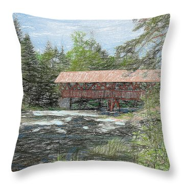 North Country Bridge Throw Pillow