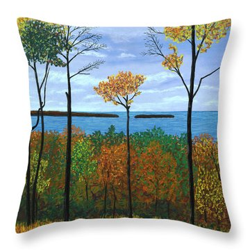 North Orchard View Throw Pillow