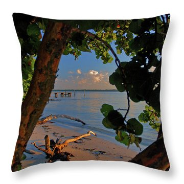 Throw Pillow featuring the photograph 1- North Palm Beach by Joseph Keane