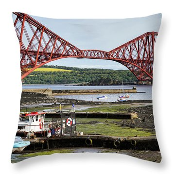 Throw Pillow featuring the photograph North Queensferry by Jeremy Lavender Photography