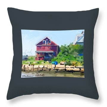 North Shore Art Association At Reed's Wharf Throw Pillow