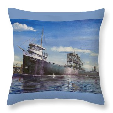Northern Lights Throw Pillow by Christopher Jenkins