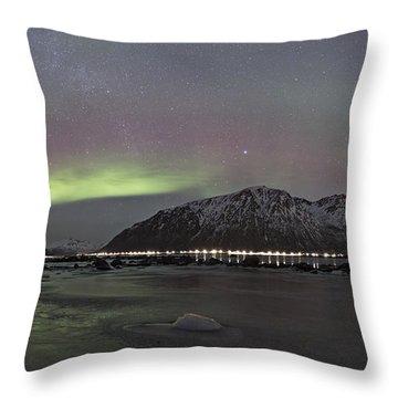 Northern Lights Panoramic Throw Pillow