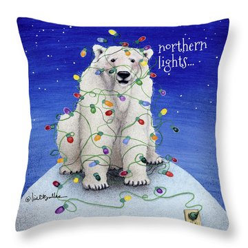 Northern Lights... Throw Pillow