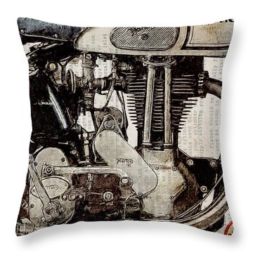 Norton Es 2 1948 Throw Pillow