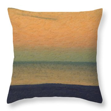 Not Quite Rothko - Breezy Twilight Throw Pillow by Serge Averbukh