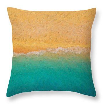 Not Quite Rothko - Surf And Sand Throw Pillow by Serge Averbukh