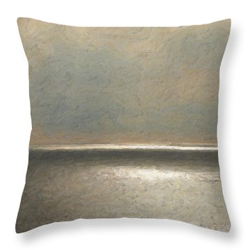 Not Quite Rothko - Twilight Silver Throw Pillow