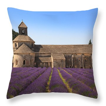 Notre-dame De Senanque  Abbey Provence France Throw Pillow