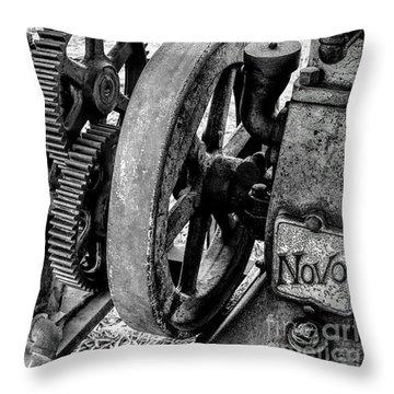 Novo Antique Gas Engine Throw Pillow
