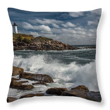 Nubble Light Throw Pillow by Fred LeBlanc