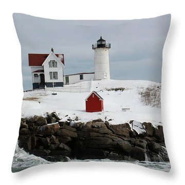 Nubble Point Maine Throw Pillow