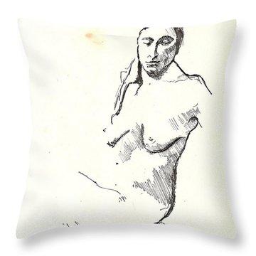 Nude Three Throw Pillow