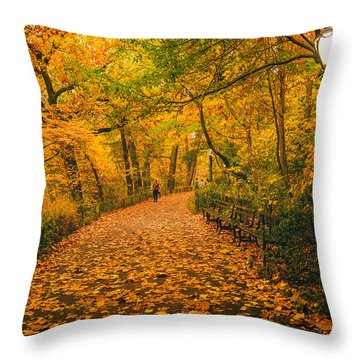 Nyc Autumn Throw Pillow